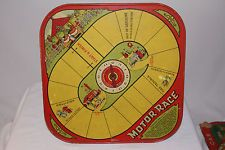 1920's Wolverine Tin Motor Race Game, Features Open Wheel Race Cars