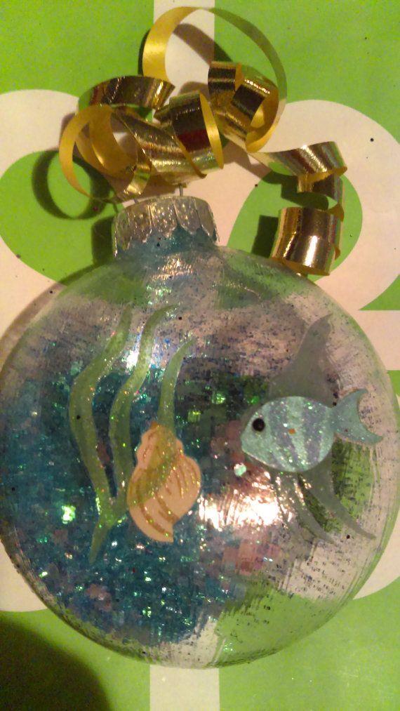 Blue Fish Beach Ocean Theme Ornament Christmas Ornament Great