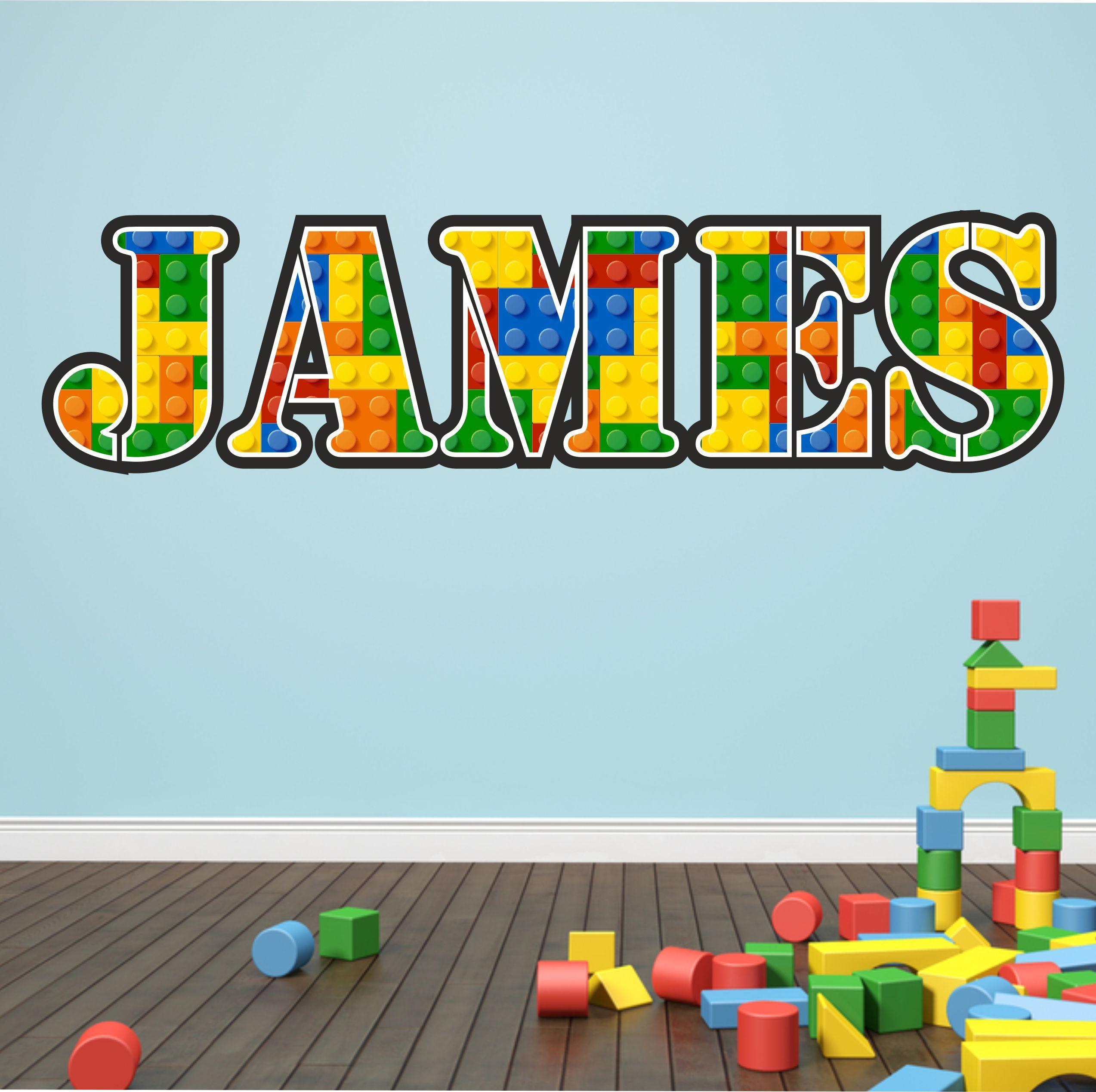 Superbe The Grafix Studio | Personalised Lego Name Wall Sticker
