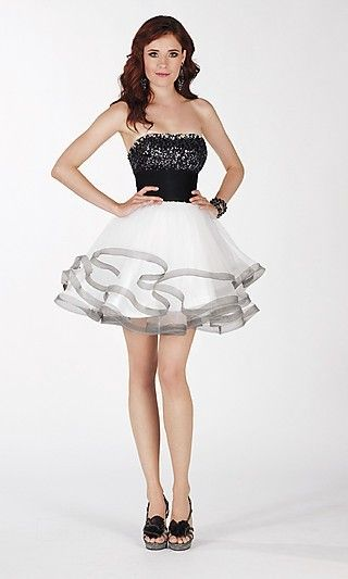 Baby doll Strapless Short Organza Dress,,,, seriously- this is going to be my dress for sir west. so cute