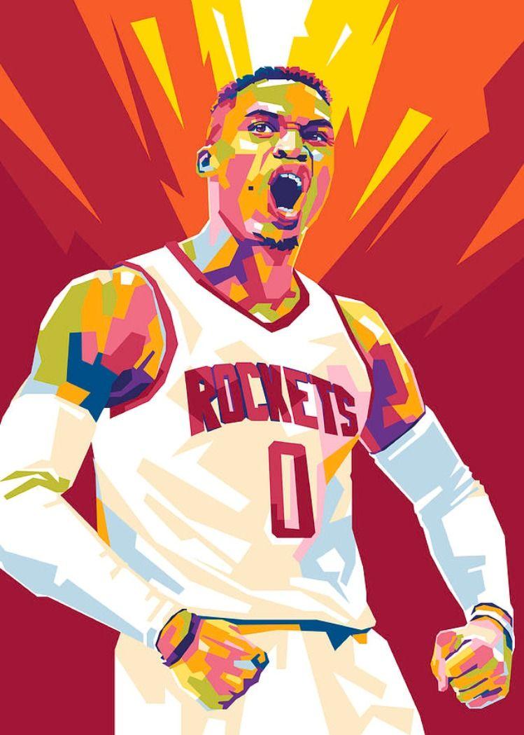 Russell Westbrook Wpap Pop Art Canvas Print Canvas Art By Gilang Bogy In 2020 Westbrook Wallpapers Nba Players Nba Art