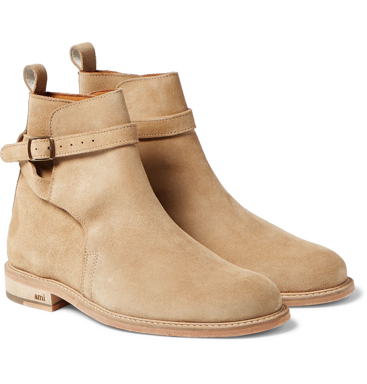 d8381ff5f3b0c AMI - Buckled Suede Boots | Mens Shoes // Online in 2019 | Boots ...