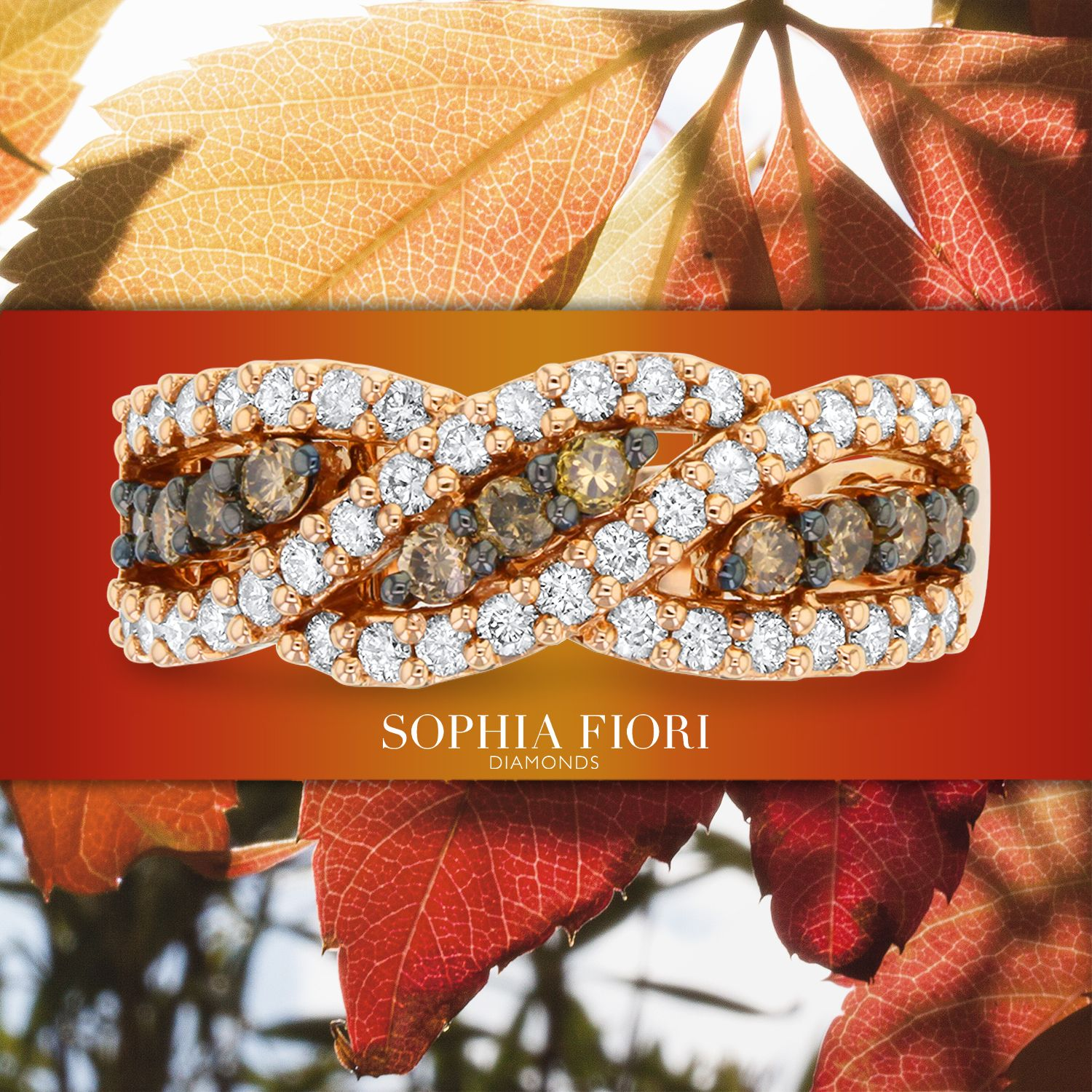 'Life starts all over again when it gets crisp in the fall.' F. Scott Fitzgerald #MadeintheUSA #FamilyBusiness #Bridal #Jewelrydesign #uniquerings #FineJewelry #custommadejewellery #CognacDiamonds