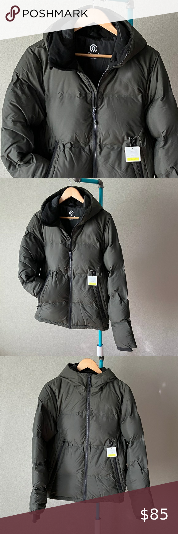 Champion Men S Lightweight Puffer Jacket With Hood Brand Champion Size S Condition Nwt Good Looking Me Hooded Jacket Silver Puffer Jacket Mens Puffer Jacket [ 1740 x 580 Pixel ]