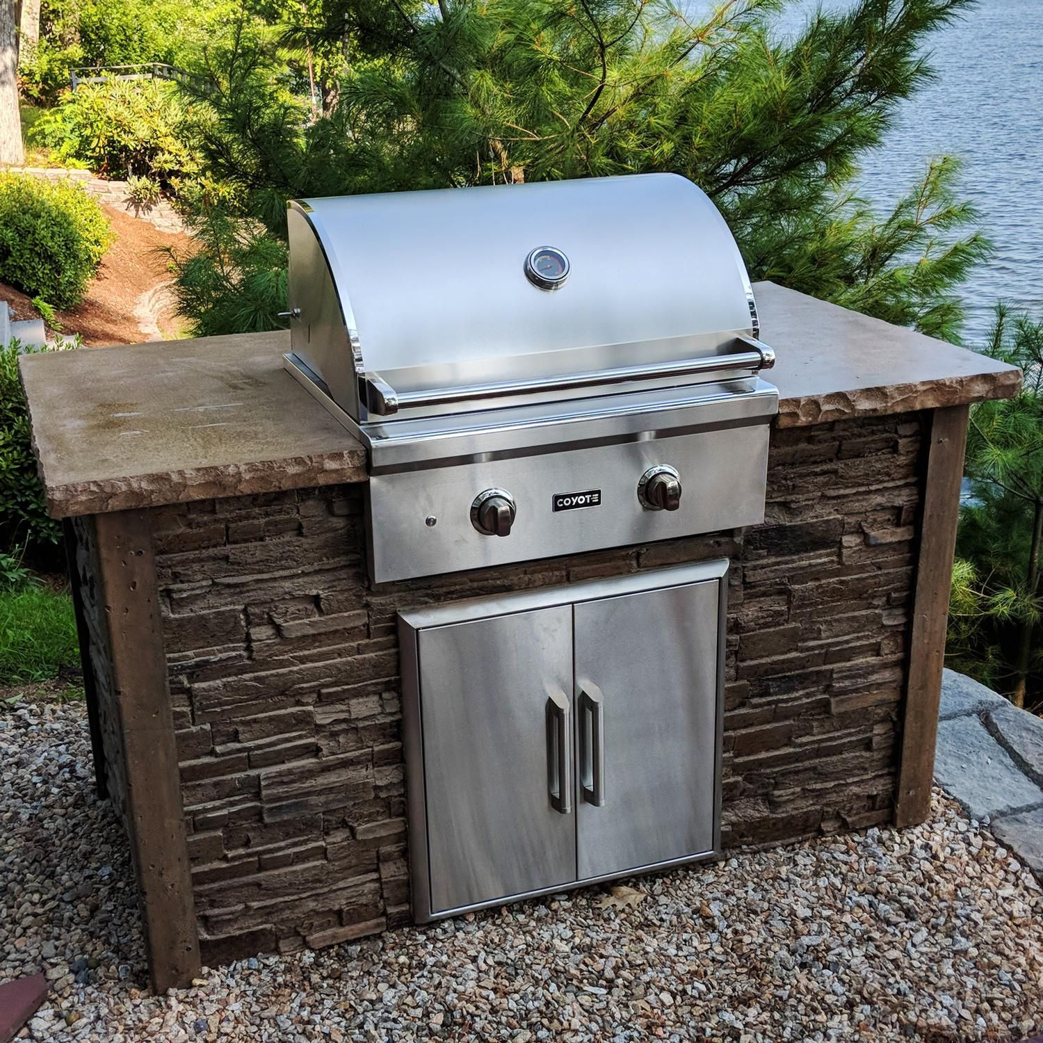 Coyote Built In Grill With Side Burner Built In Grill Kitchen Design Outdoor Kitchen Design