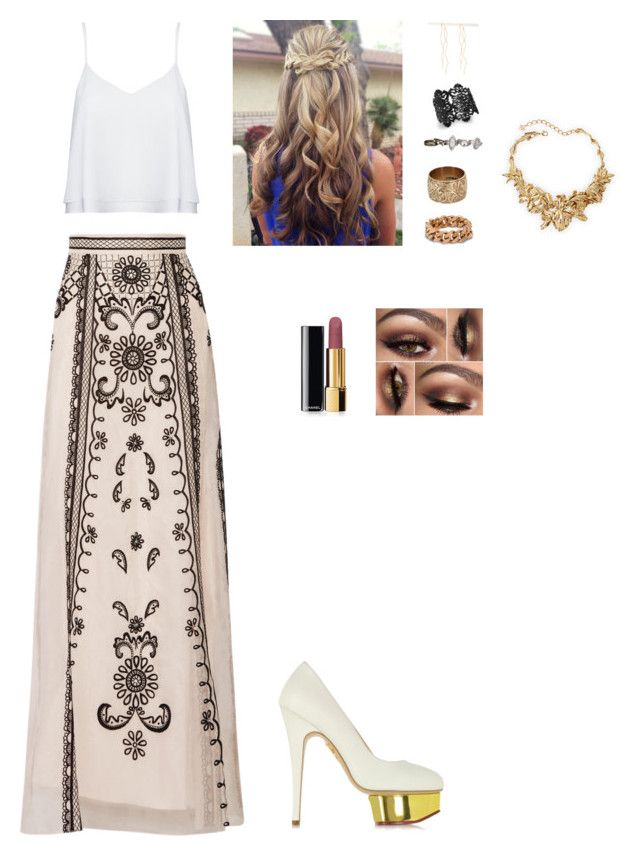 """""""Untitled #421"""" by cristina-974 on Polyvore featuring Temperley London, Alice + Olivia, Charlotte Olympia, STELLA McCARTNEY, Vintage, maurices, Bar III, Chanel, Forever 21 and Oscar de la Renta"""
