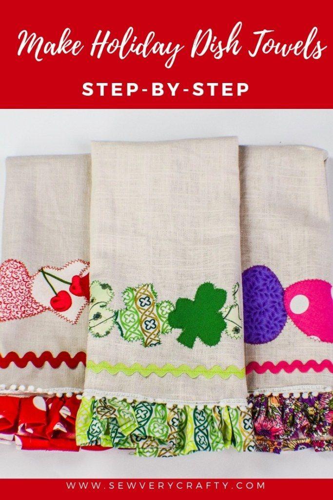 How to Make Holiday Dish Towels #dishtowels