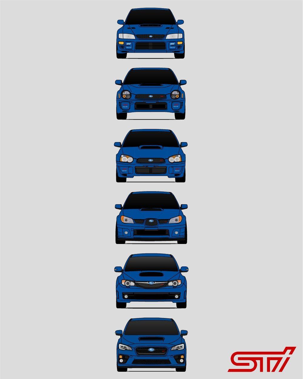 Subaru STI Poster / Subaru Poster / STI Poster / Subaru