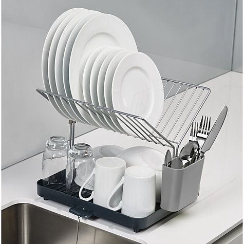 Joseph Joseph Y Rack 2 Tier Self Draining Dish Rack Grey