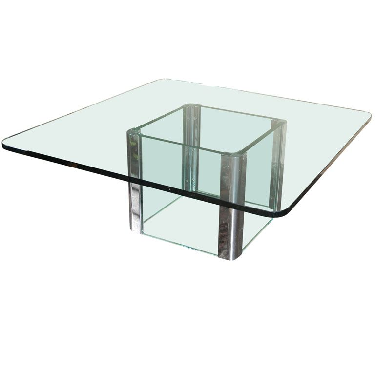 Chrome And Glass Coffee Table By Pace International With Images Coffee Table Glass Coffee Table Table