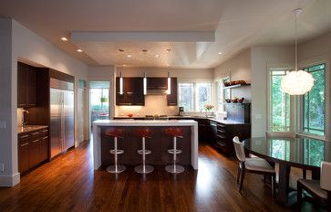 Refined Contemporary Kitchen Remodel In Boise, ID By Strite Design + Remodel.  Walnut Flat