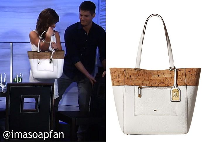 5a864067aa8844 I m a Soap Fan  Maxie Jones s Off-White and Cork Tote Bag - General Hospital
