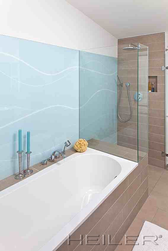 rckwand aus glas im privatbad - Ruckwand Dusche Bild