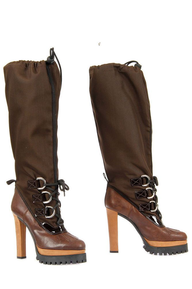 Dsquared² D2 Dsquared2 New Woman Brown Panzer Boots