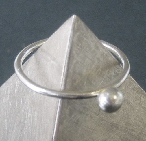 Contemporary Silver Pebble Dot Ring  sterling silver by RockJewels, $20.00