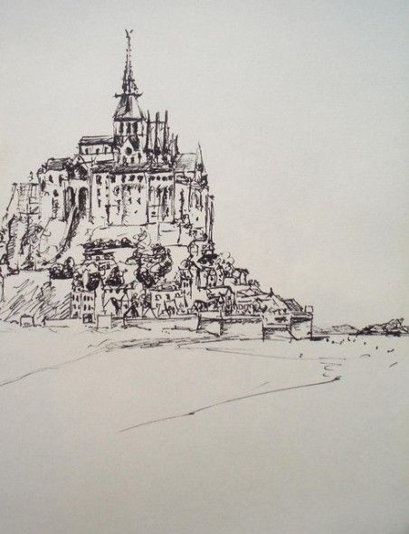 Le Mont Saint Michel 2001 City Sketch My Drawings Normandy