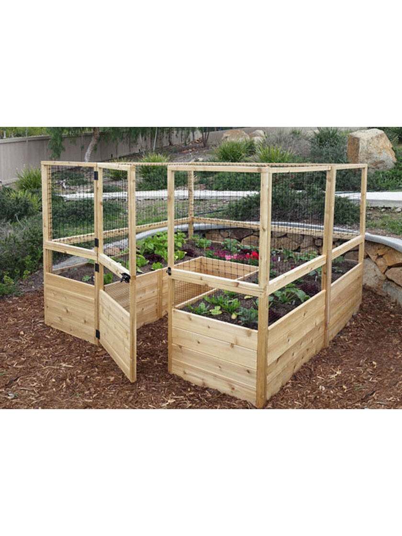 Raised Garden Bed 8 X8 Or 8 X12 With Deer Fence Kit Gardener S