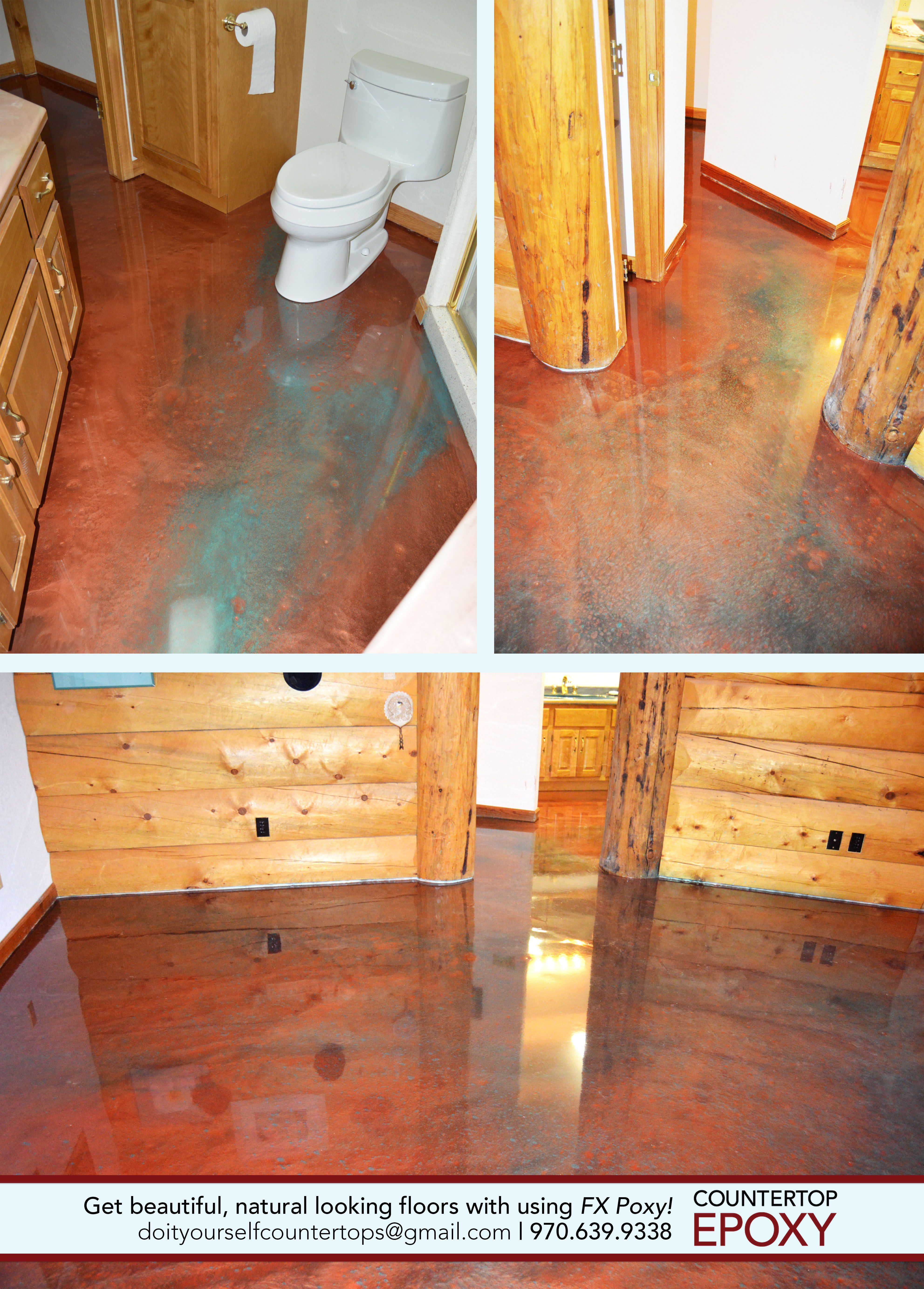 Copper Patina Fx Poxy In A Log Cabin Get The Look Of Real