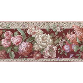 "allen roth 101/4"" Multicolor Rose Prepasted Wallpaper Border"