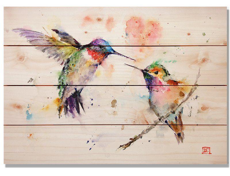 love bird canvas wall art