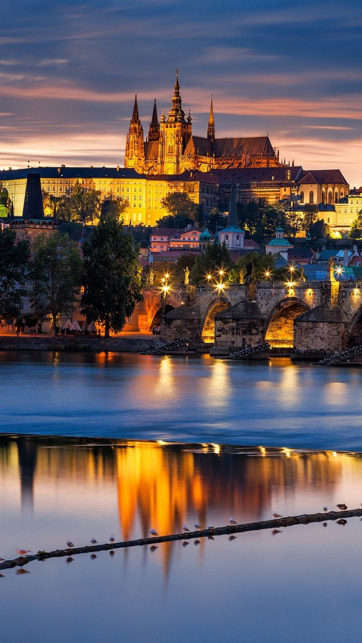 720x1280 Wallpaper czech republic, czech, bridge, city