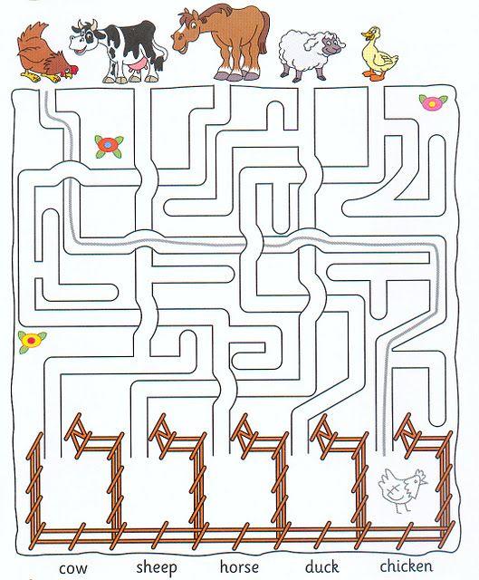 Actividades De Ingles Variadas Para Niños Actividades De Ingles Artesanías De Animales De Granja Actividades De Inglés Para Niños