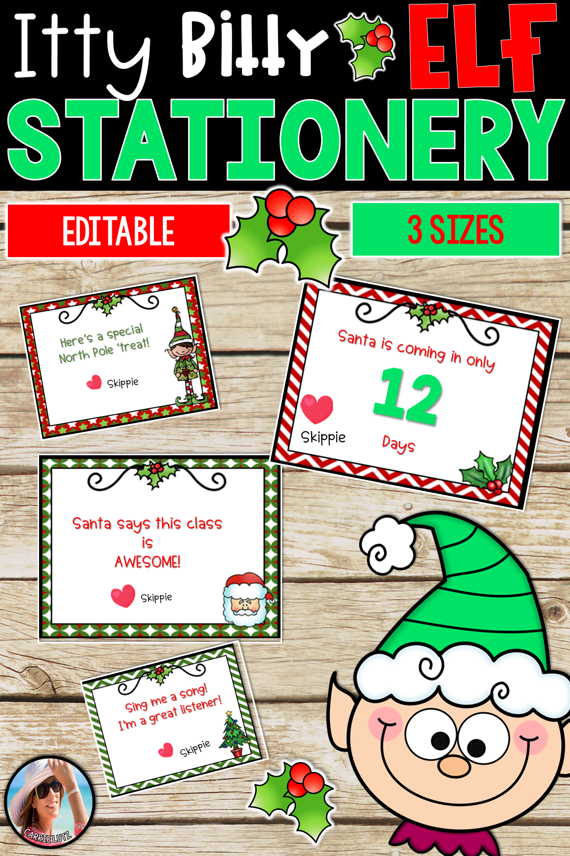 Elf Stationery For Notes From Your North Pole Visitor