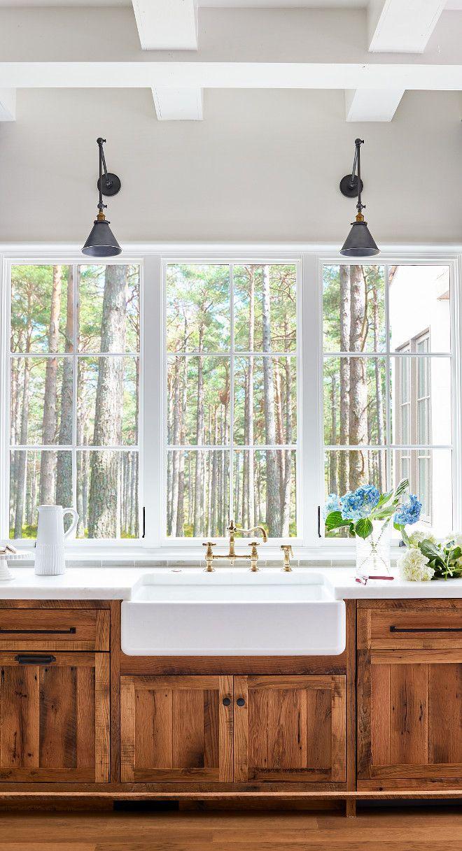 Reclaimed White Oak Kitchen Cabinetry Reclaimed White Oak Reclaimedwhiteoak Design De Cuisine Rustique Deco Maison Cuisines Maison