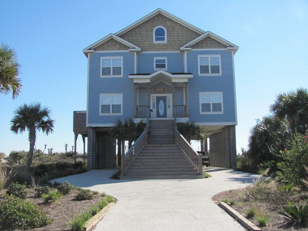 Pictures of houses on the beach - Folly Beach House Rental Ocean Front Beach House Folly Beach Sc