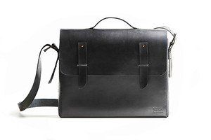 Leather school satchel, 400 USD