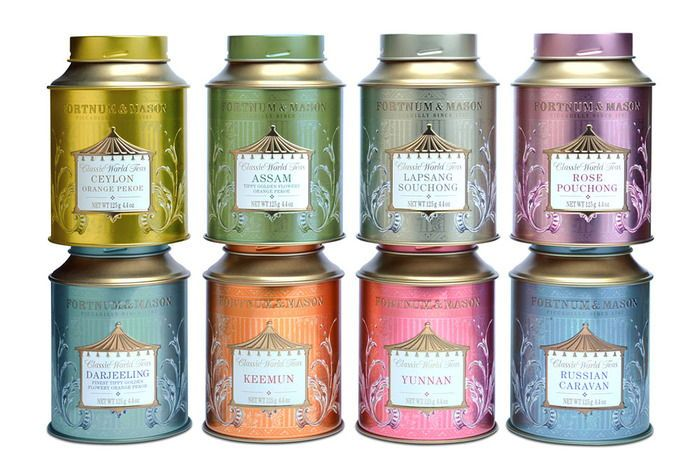 Fortnum & Mason Tea: Classic World Tea #teapackaging