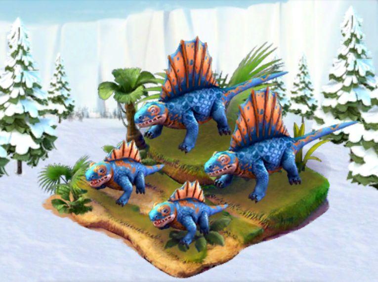 Ice Age Village... Dimetrodon azul | <Ice Age Village ...