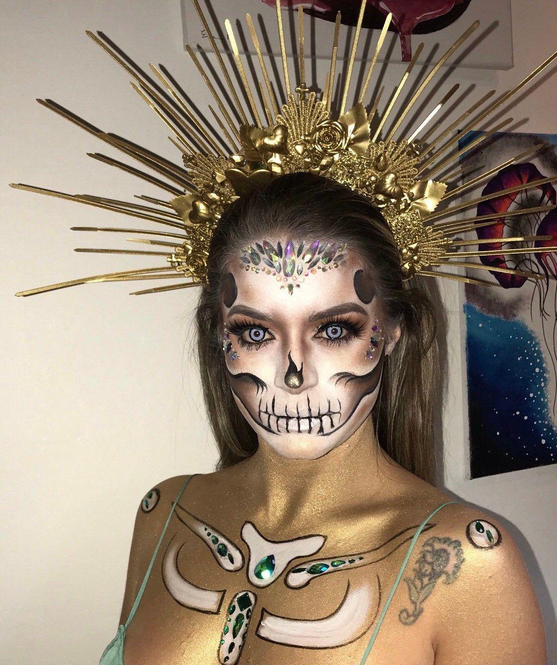 Ou Acheter Maquillage Halloween.Halo Crown Sunburst Crown Embellished Customizable Halloween Makeup Inspiration
