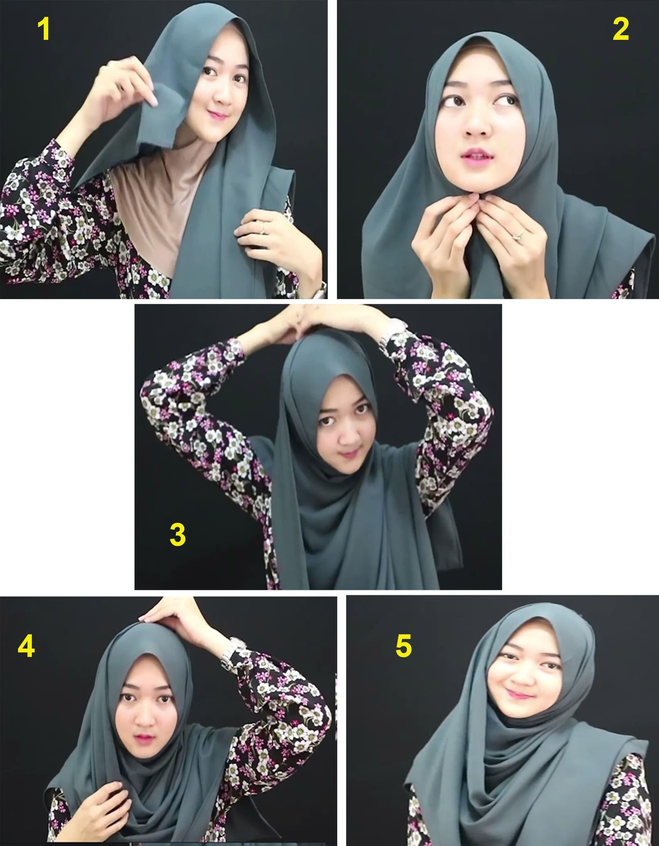 Tutorial Hijab Simple Tapi Modis Hijab Kursus Hijab Gambar