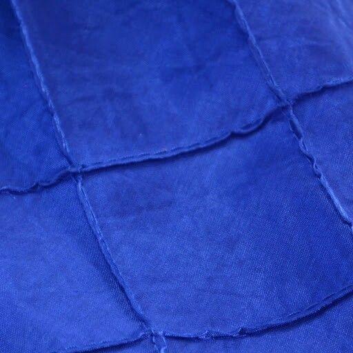 Pintuck Royal blue