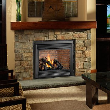 Linear Gas Fireplaces Transitional Indoor Fireplaces Seattle