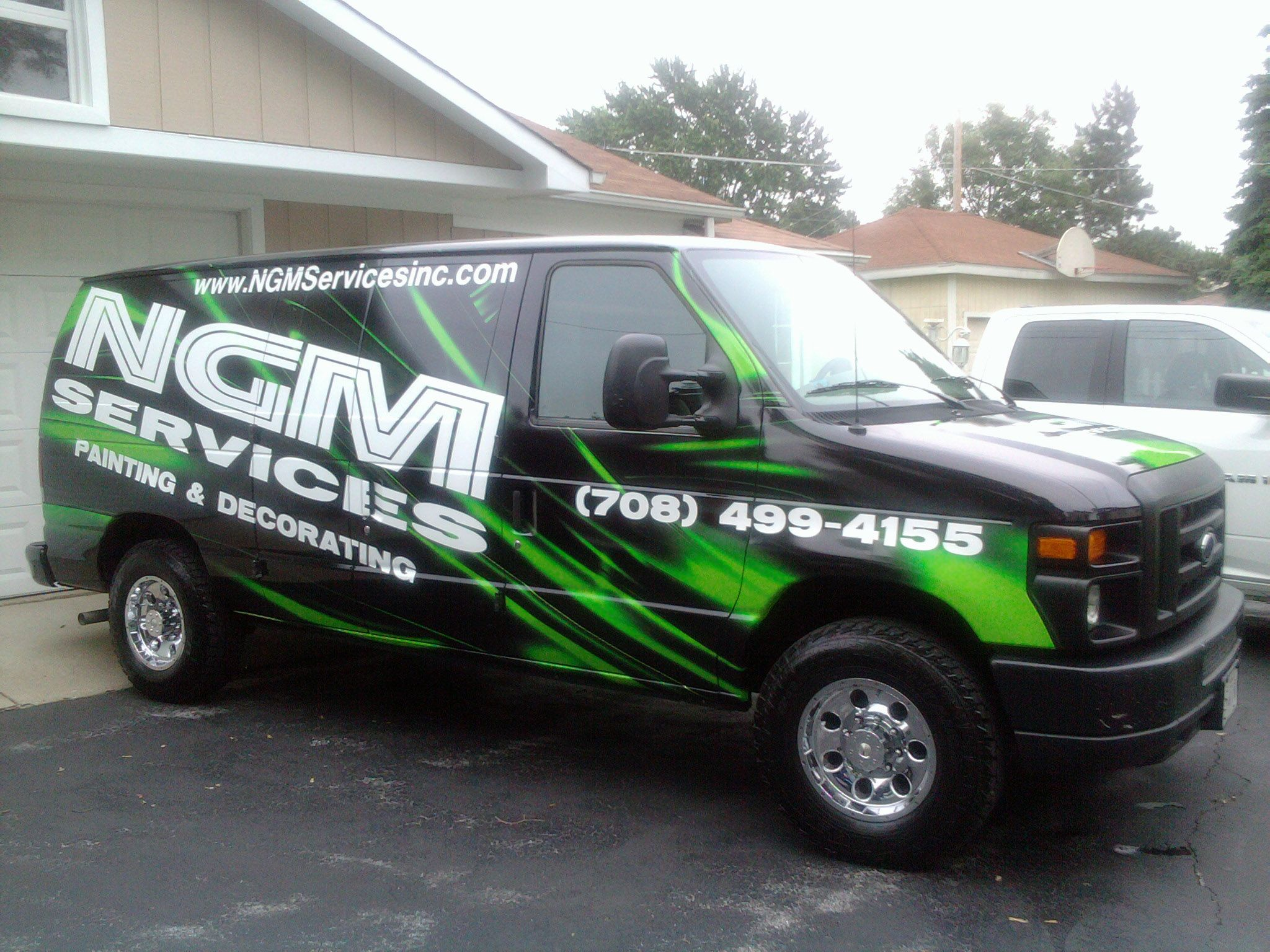 Full Vehicle Vinyl Wrap Done For Ngm Cleaning Services By M O Graphics In New Lenox Il Vinyl Wrap New Lenox Decorative Painting