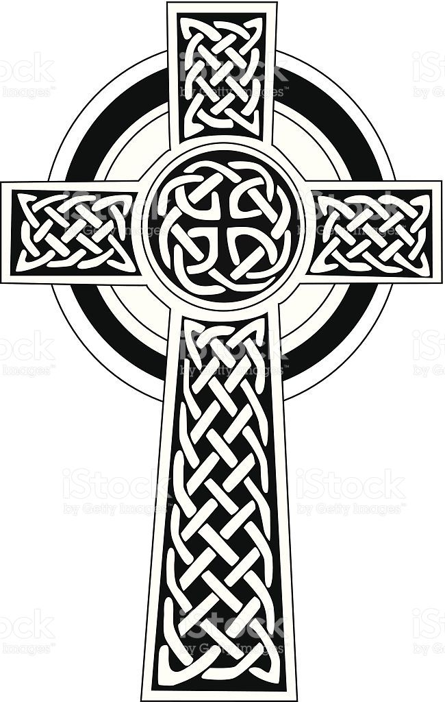 Celtic Cross Symbol Black And White Royalty Free Stock Vector Art