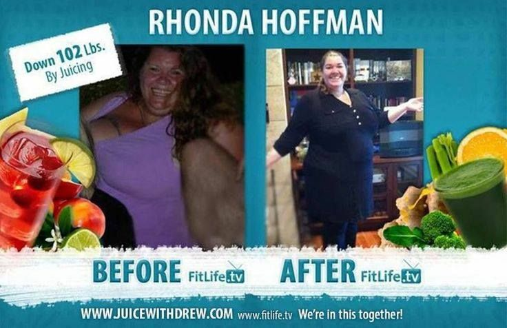 Rhonda Hoffman down 102 Pounds with Juicing!  http://ow.ly/l7ux5 <-- Start your transformation now..