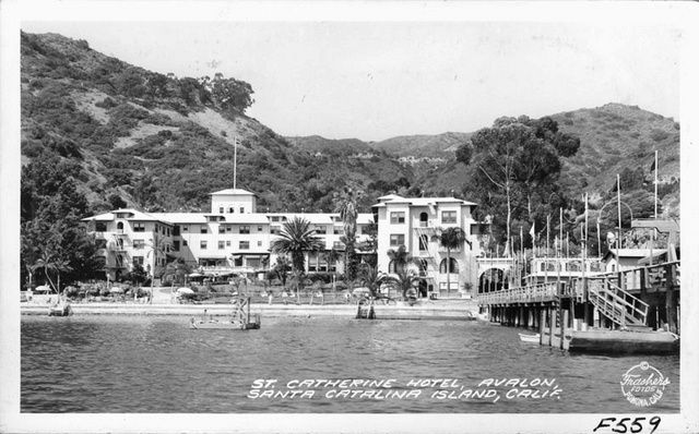 Old St Catherine Hotel Previously Located In Disconso Bay Catalina Ca