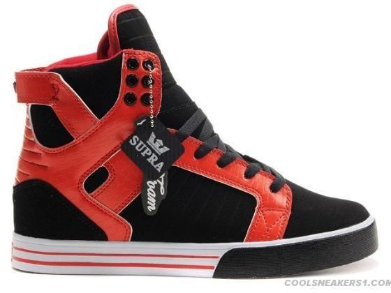 sale retailer 1f653 1d3d3 Supra Skytop High Top Chad Muska Shoe Red Black White Fashion
