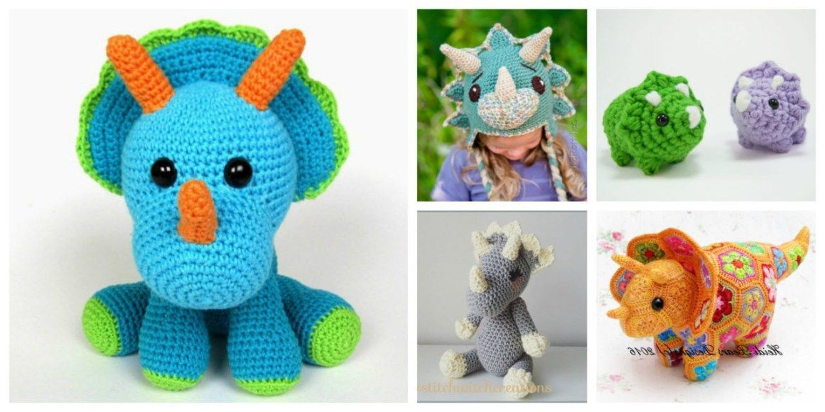 40+ Pretty Picture of Dinosaur Crochet Patterns #crochetdinosaurpatterns Dinosaur Crochet Patterns The Best Crochet Triceratops Patterns These 13 Handmade Dinosaurs #crochetdinosaurpatterns