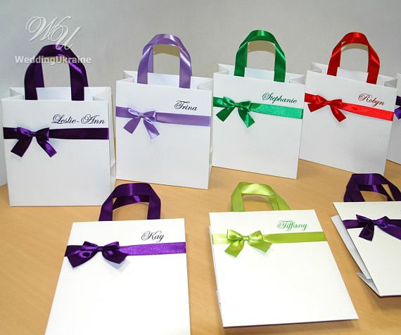 Personalized Gift Bags Bridesmaids Gifts Bridal Party Gift Bags