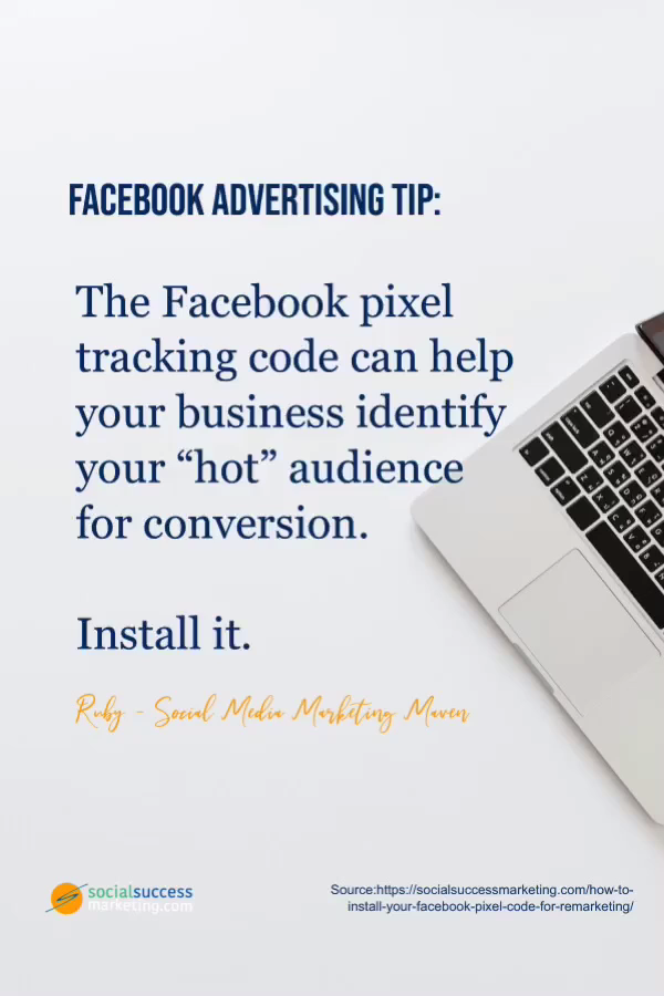 Facebook pixel code is an essential tool if Facebook advertising is part of your sales strategy whether you are selling a product or a service.