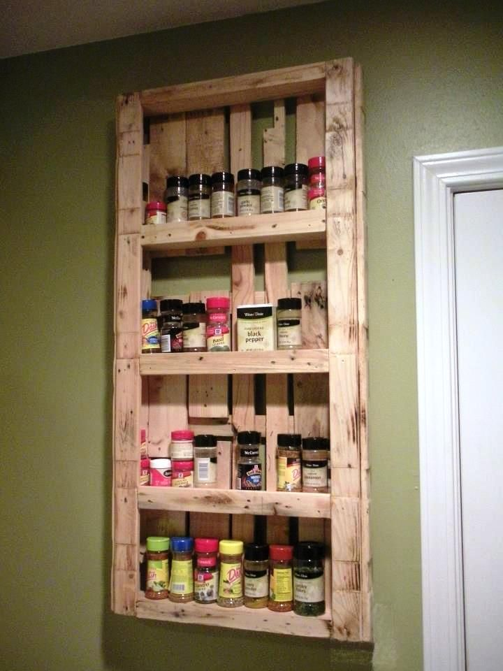 Pallet Spice Rack Jpg 720 960 Pixels Diy Furniture Projects Pallet Diy Diy Spice Rack