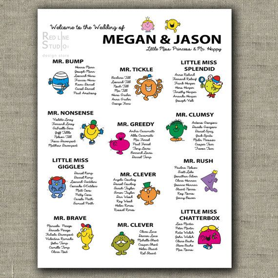 Cool And Funny Seating Chart For Weddings Birthdays And Parties