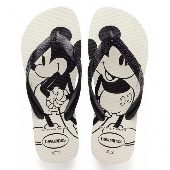 865e27fa5 Chinelo Havaianas Top Disney Mickey Mouse Branco  flipflopsSummer ...