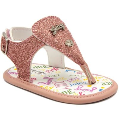 20a4eb59ba4e Juicy Couture Size 3-6M Thong Glitter Sandals In Pink in 2019 ...