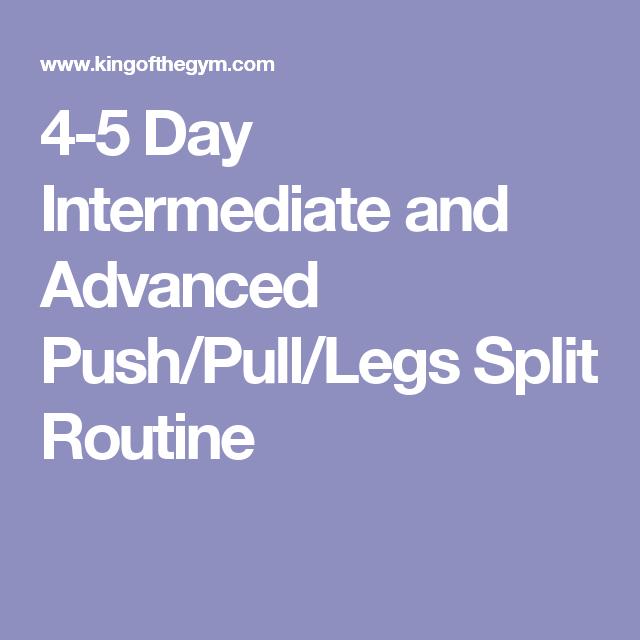 4 5 day intermediate and advanced push pull legs split routine