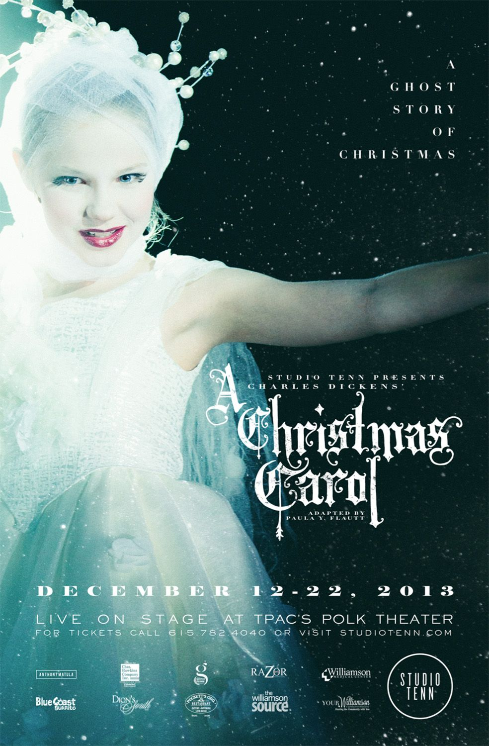st_cc_13_poster.jpg Christmas carol, Theatre poster, Carole